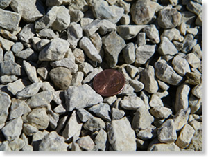 crushed stone - penny size
